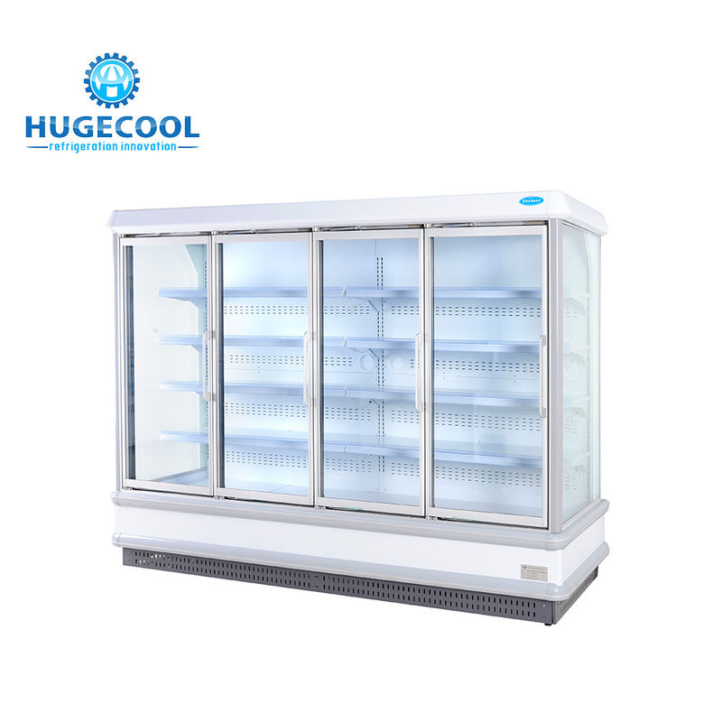 Custom Commercial Beverage Cooler , Commercial Drinks Fridge With Digital Controller