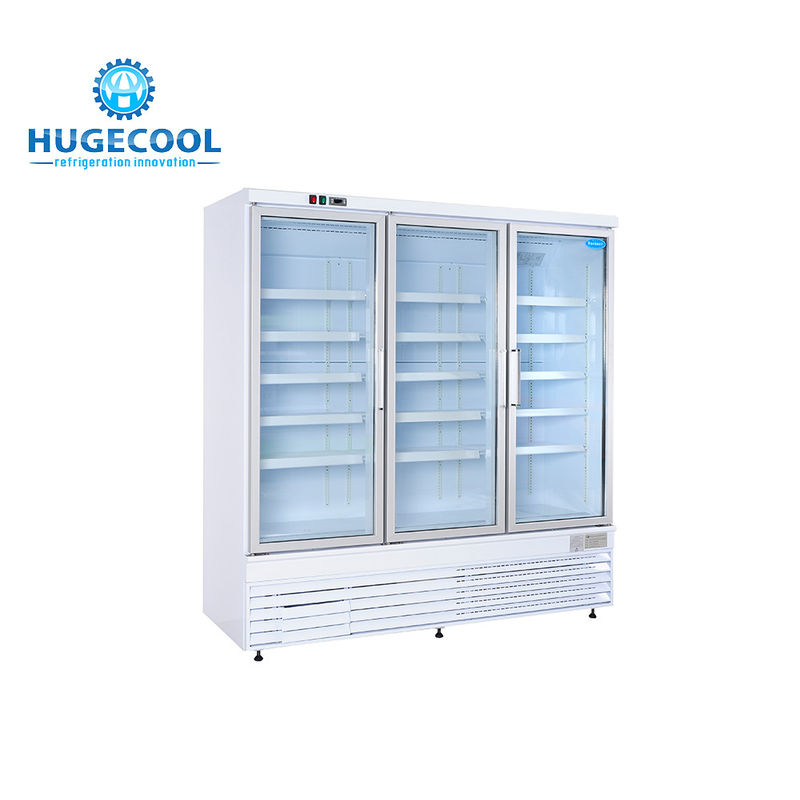 Air Cooled Convenience Store Fridge Customized Size With Two / Three Doors