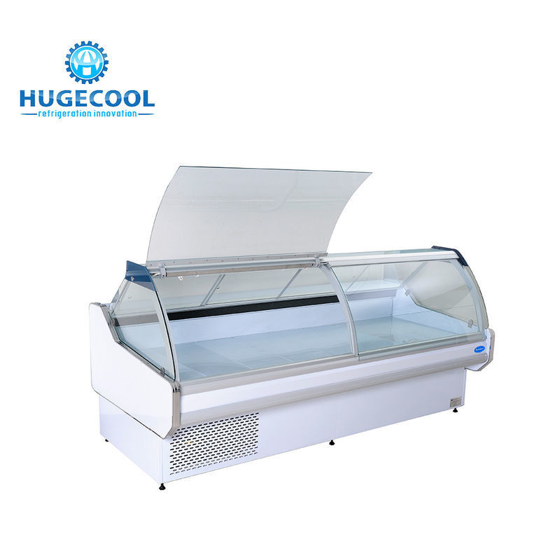 Air Cooling Deli Display Cabinets , Commercial Deli Case For Meat And Fish